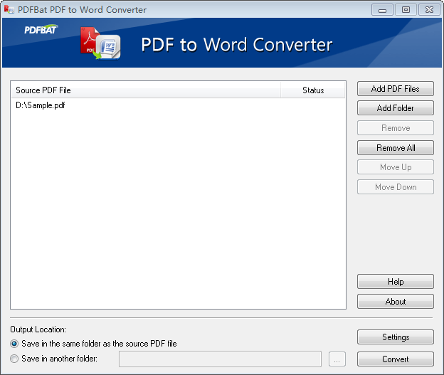 Convert PDF to Word (PDF to DOC).